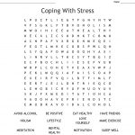 Coping With Stress Word Search   Wordmint