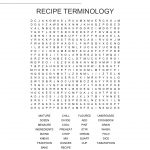 Culinary Terminology Word Search   Wordmint