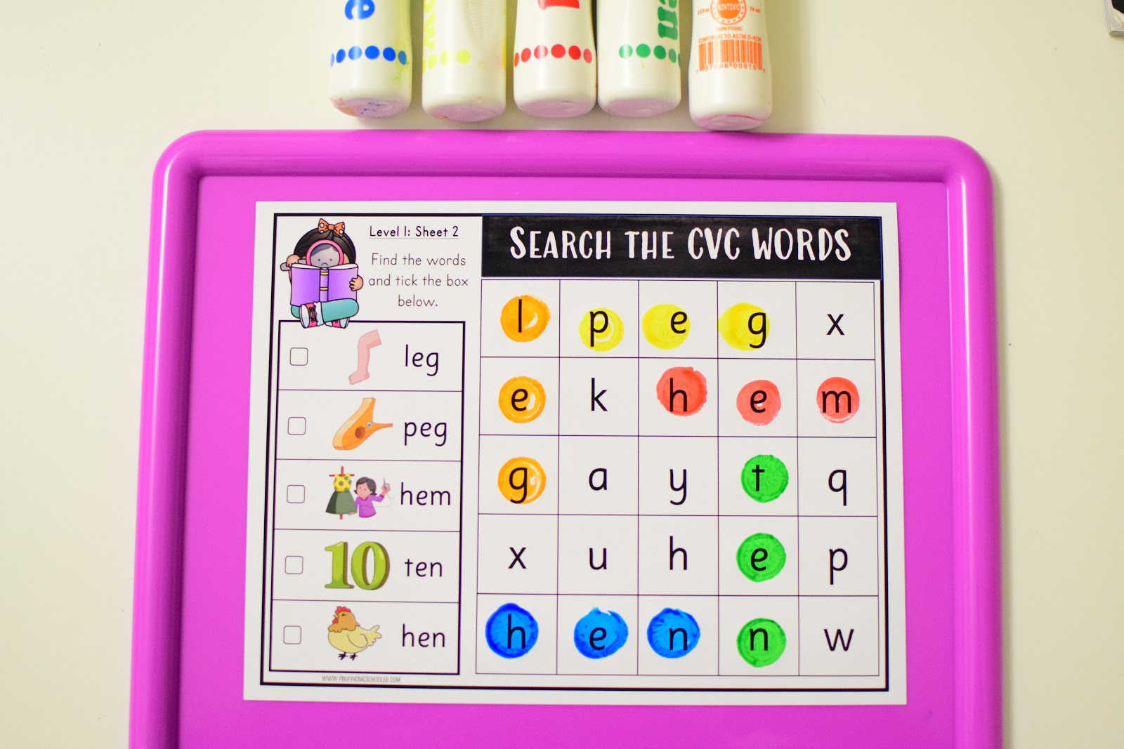 Cvc Word Search For Literacy Plus Free Sampler! | The Pinay