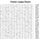 Daily Wordsearches: Word Search 3   Premier League Players