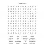 Dementia Word Search   Wordmint