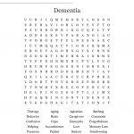 Dementia Word Search   Wordmint