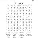 Diabetes Word Search   Wordmint