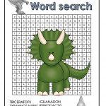 Dinosaur Word Search Free Printable | Dinosaur, Kindergarten