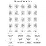 Disney Characters Word Search   Wordmint