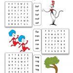 Dr. Seuss Cvc Word Family Word Search | Dr Seuss Activities