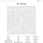 Dr Seuss Word Search   Wordmint