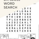 Dr. Seuss Word Search | Worksheets For Kids, Teaching Tips