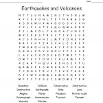 Earthquakes And Volcanoes Word Search   Wordmint