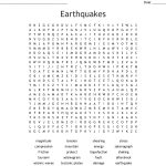 Earthquakes Word Search   Wordmint