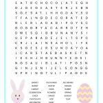 Easter Word Search Free Printable Worksheet For Kids