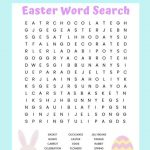 Easter Word Search Printable Worksheet With 20 Easter Themed