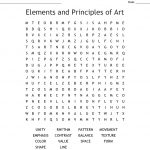Elements Of Art & Principles Of Design Word Search   Wordmint