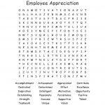 Employee Appreciation Word Search   Wordmint