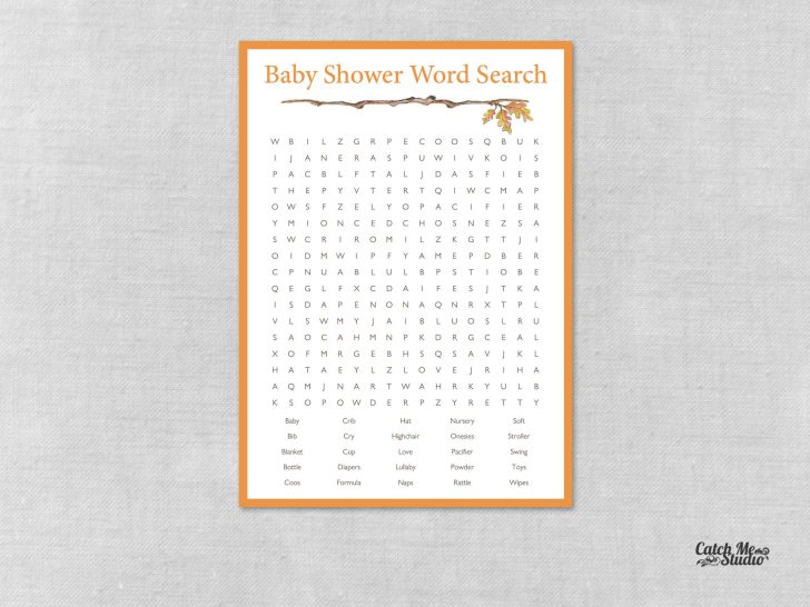 Printable Baby Shower Games Word Search
