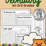 February Word Search Packet | Groundhog Day Activities