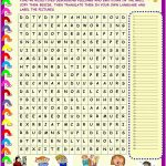 Feelings And Emotions : Wordsearch With Key   English Esl