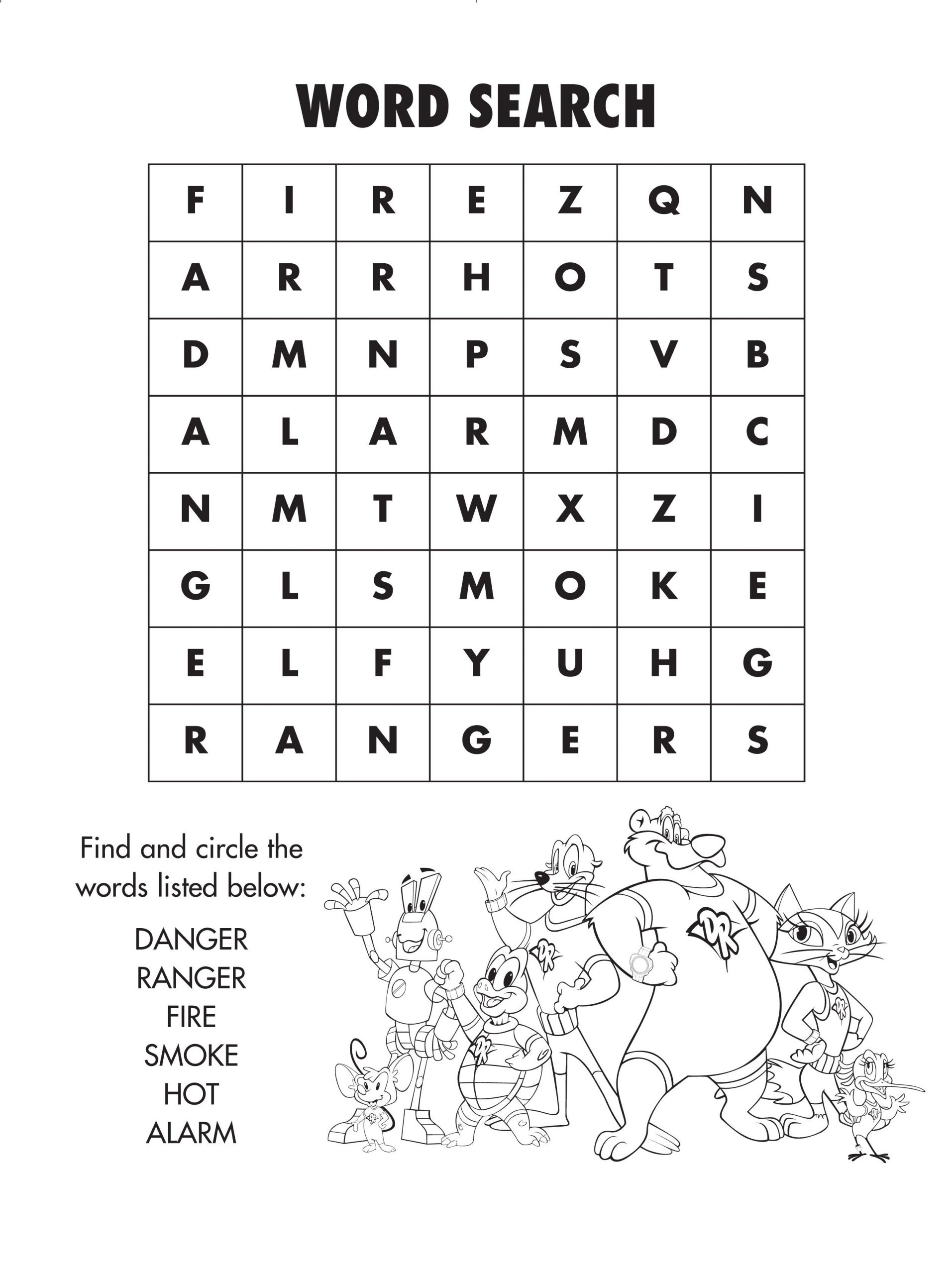 Firesafety Word Search! #freeprintable | Brain Activities