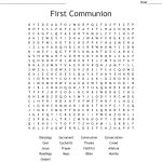First Communion Word Search   Wordmint