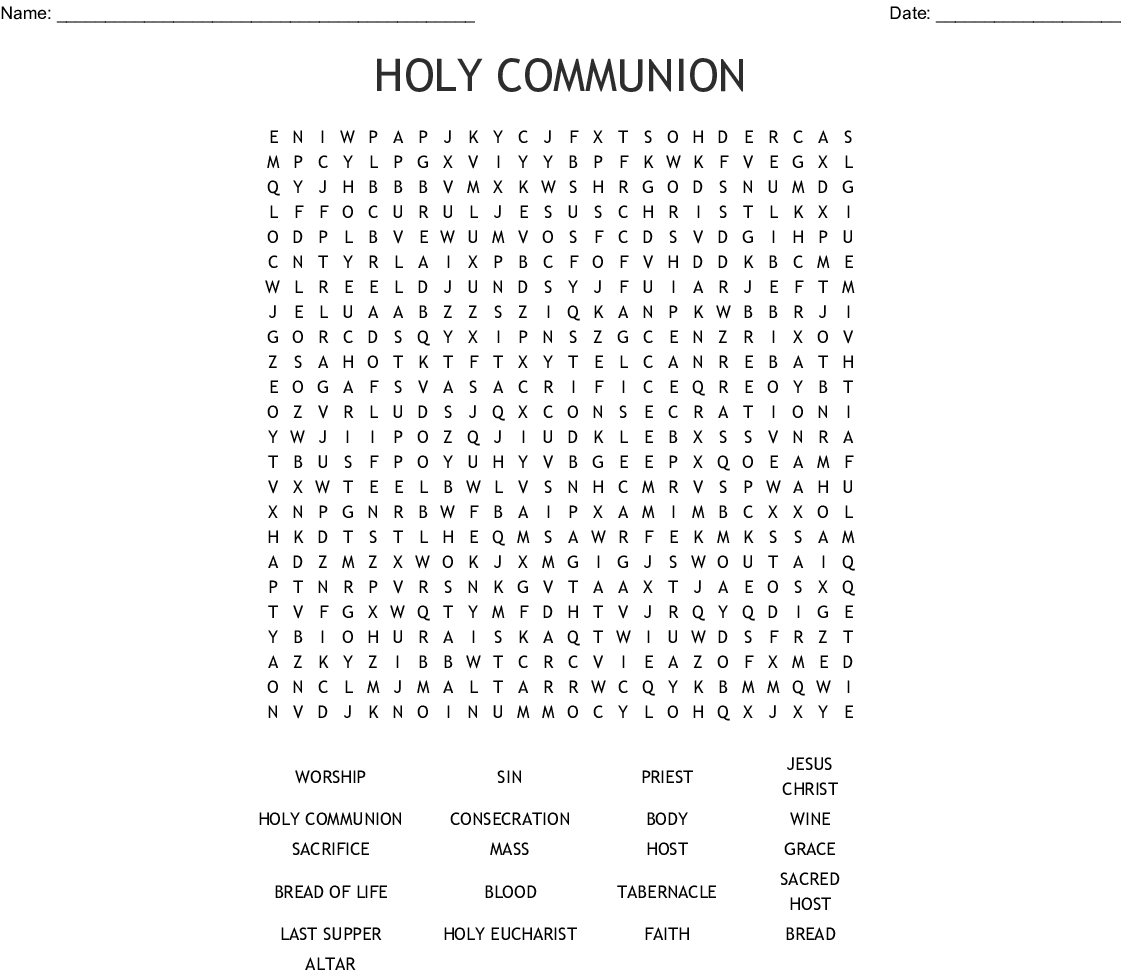 First Communion Worksheet | Printable Worksheets And