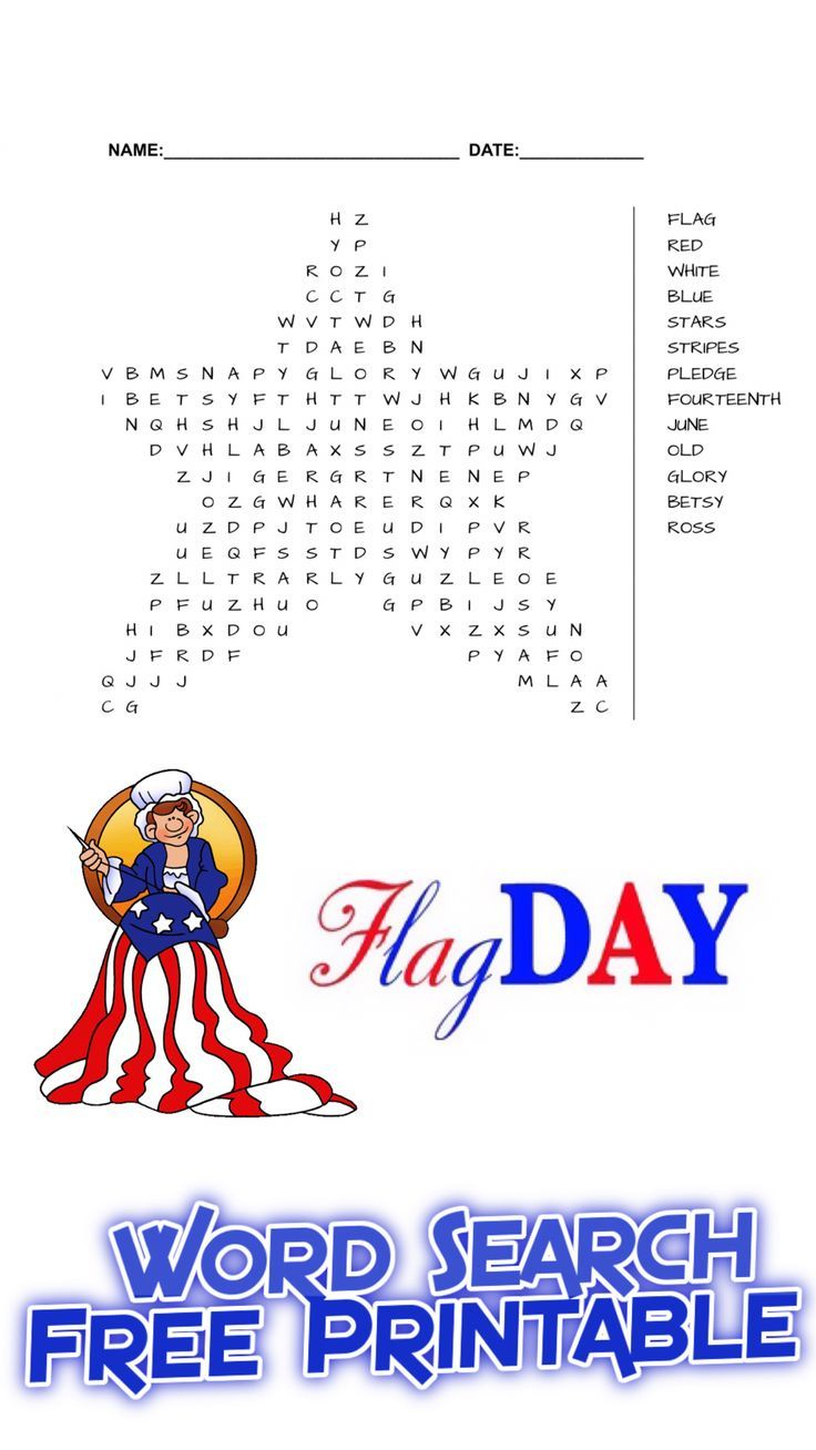 Flag Day Word Search Free Printable | Free Printables