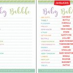 Free & Cute Baby Shower Word Scramble   Tulamama