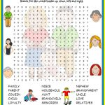 Free Family Word Search | Printable Shelter