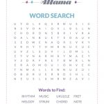 Free Printable: A Music Themed Word Search — Musical Mama