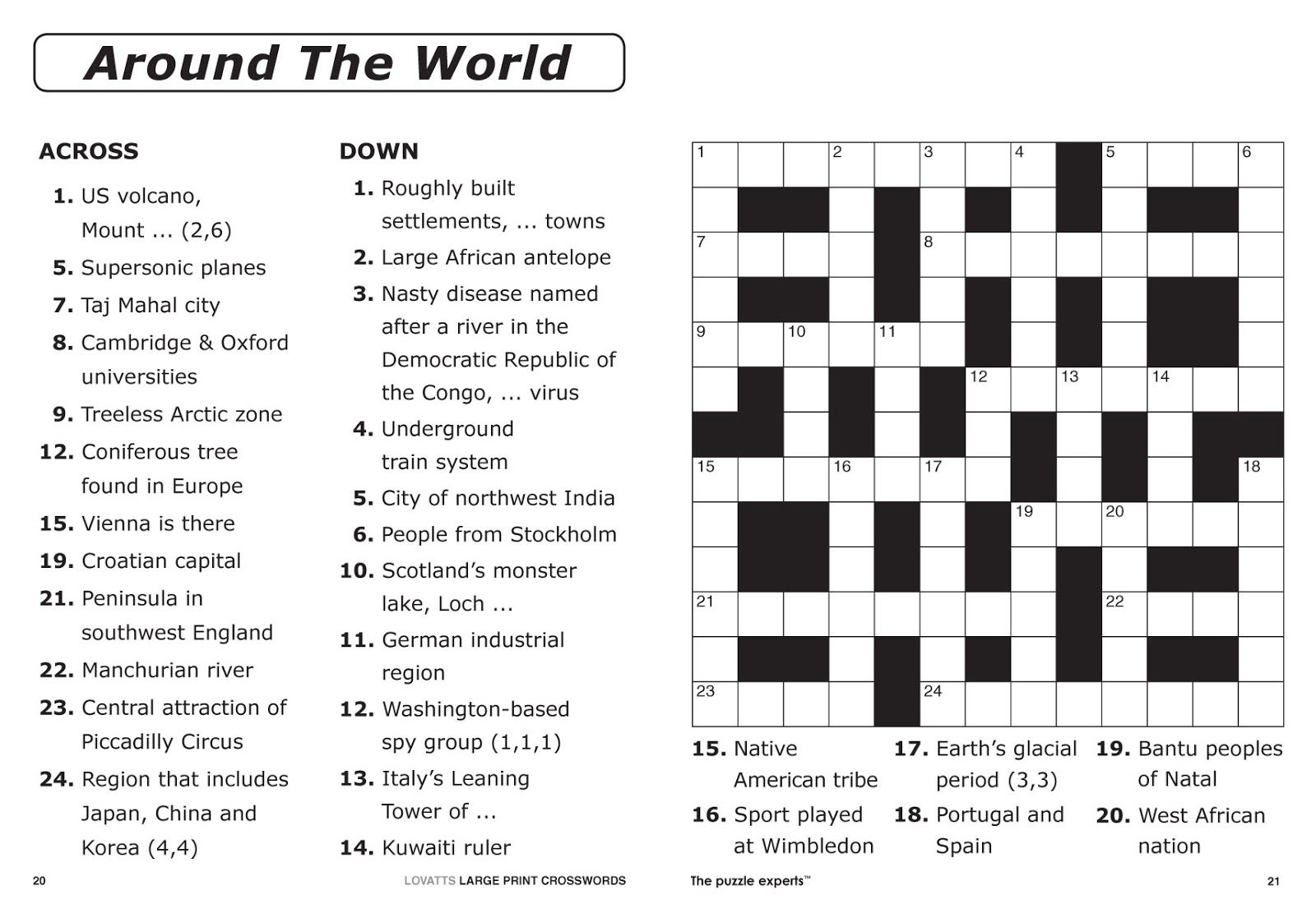 Free Printable Crossword Puzzles | Free Printable Crossword