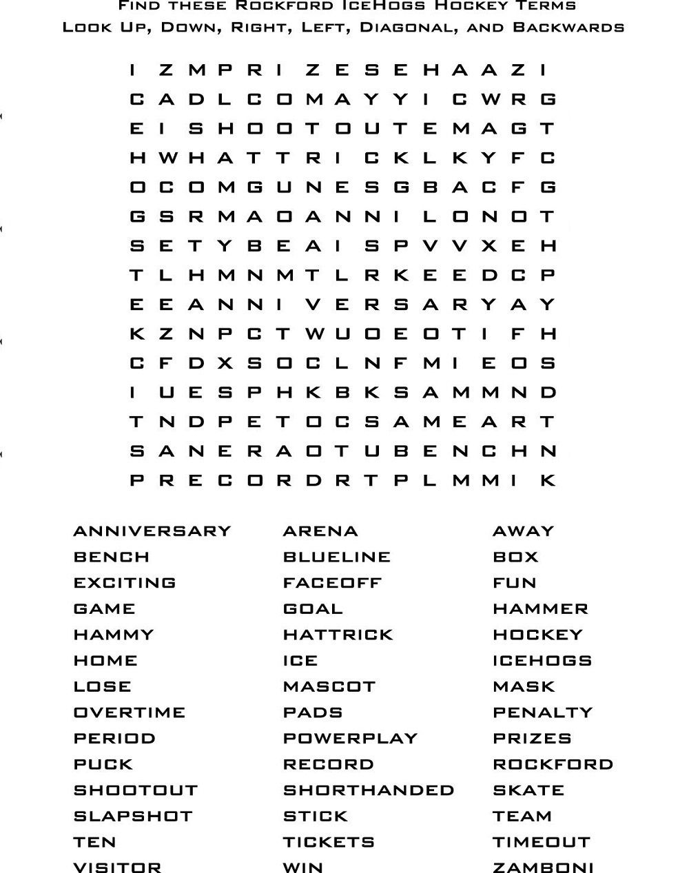 Free Printable Wordsearch For Elementary Students Activity