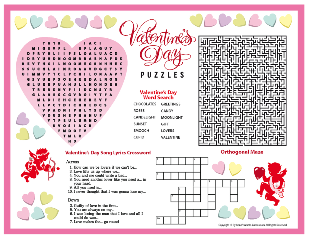 Free+Printable+Valentine's+Day+Puzzles | Valentines Puzzles