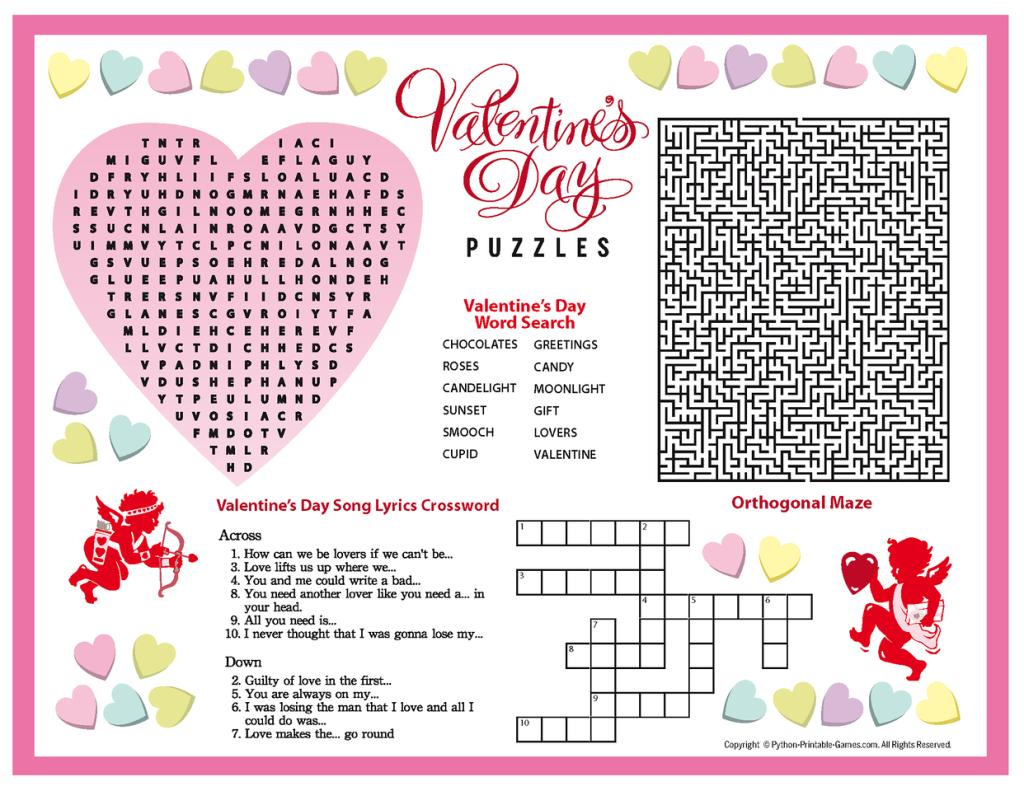 Free+Printable+Valentine's+Day+Puzzles | Valentines Puzzles