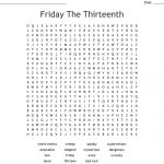 Friday The Thirteenth Word Search   Wordmint