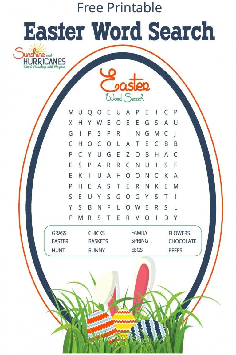 Fun And Festive Printable Easter Word Search | Easter Games