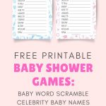 Fun & Free Printable Baby Shower Word Scramble Game