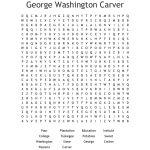 George Washington Carver Word Search   Wordmint