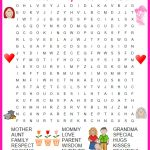 Great Day Word Search Printable | Day, Senior Gifts, Mothers