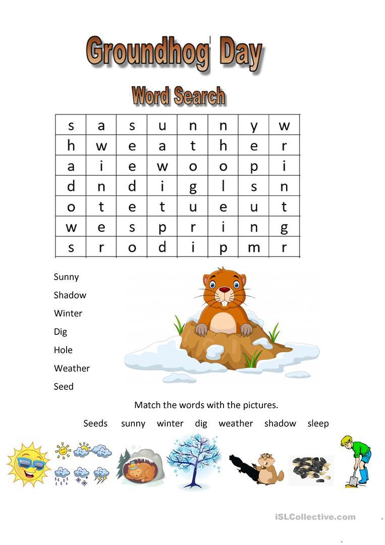 Groundhog Day - English Esl Worksheets For Distance Learning