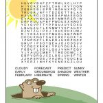 Groundhog Day Word Search | Groundhog Day, Groundhog Day