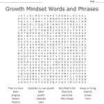 Growth Mindset Words And Phrases Word Search   Wordmint