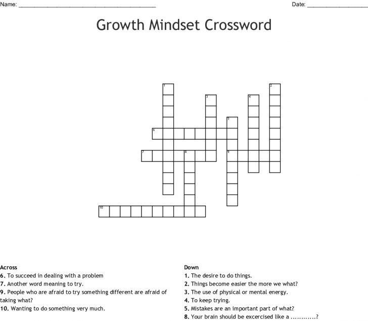 Growth Mindset Word Search Free Printable