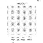 Habitats Word Search   Wordmint