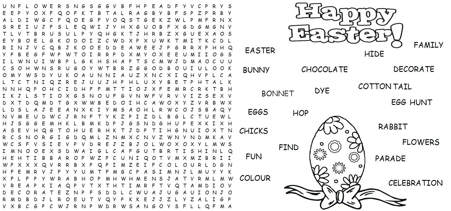 Handy Printable Word Search Hard | Sherry's Blog