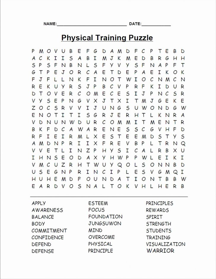 Challenging Word Search Printable