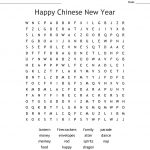 Happy Chinese New Year Word Search   Wordmint