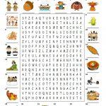 Happy Thanksgiving   Wordsearch Puzzle   English Esl