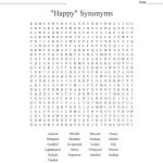 Happy Thoughts Word Search   Wordmint