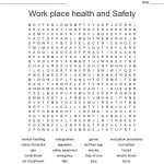 Health And Safety Word Search   Wordmint