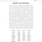 Health And Wellness Word Search   Wordmint