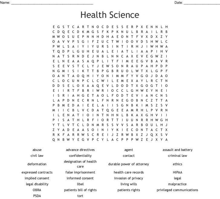 Free Printable Science Word Search
